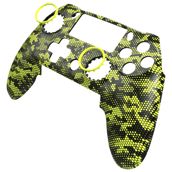Vantage Faceplate - Hex Camo Yellow