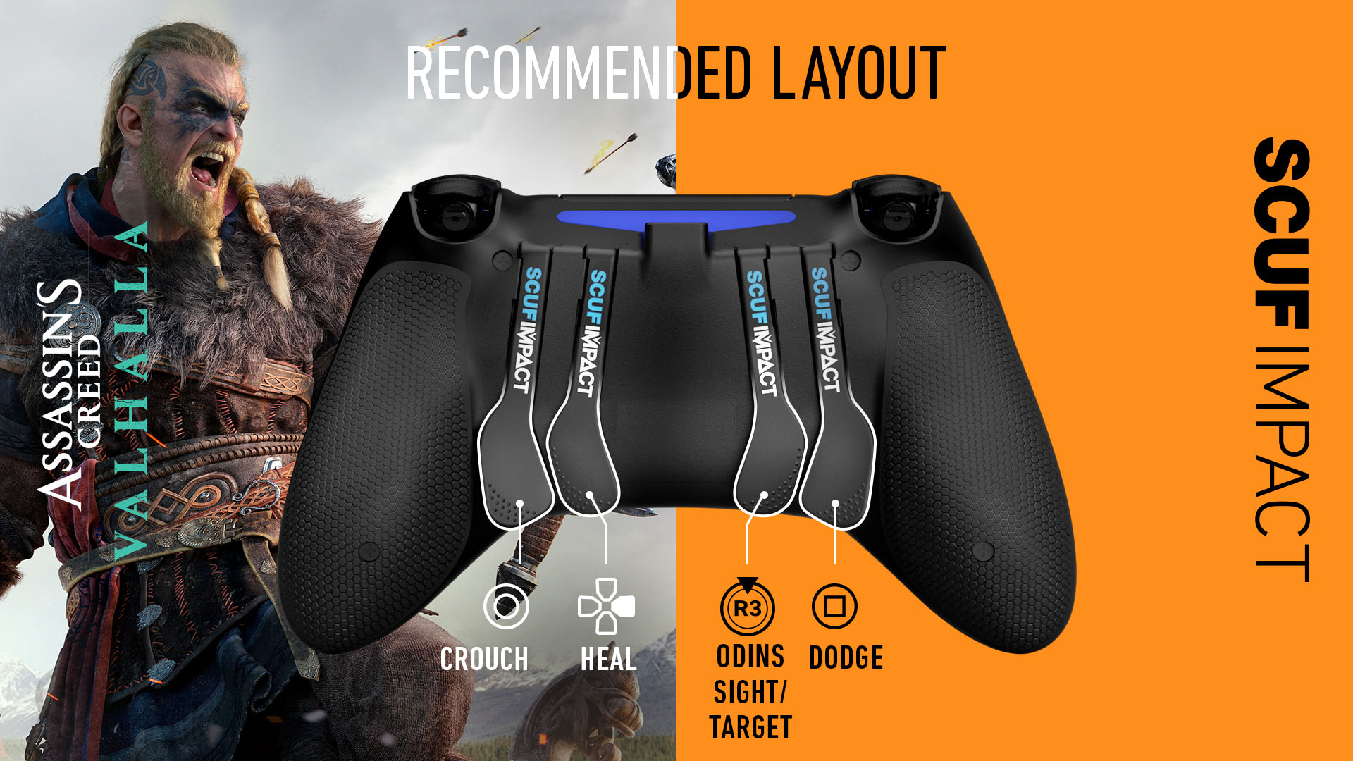 SCUF IMPACT Assassins Creed Valhalla PS4 Controller Setup