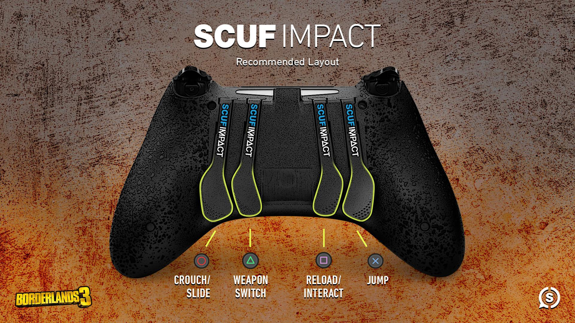SCUF IMPACT Borderlands 3 configuration