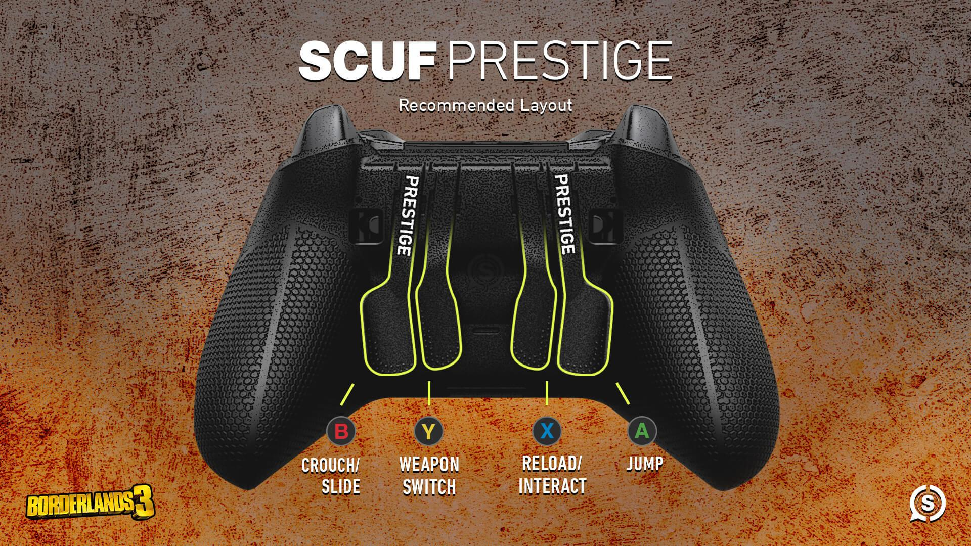 SCUF Prestige Borderlands 3 Configuration