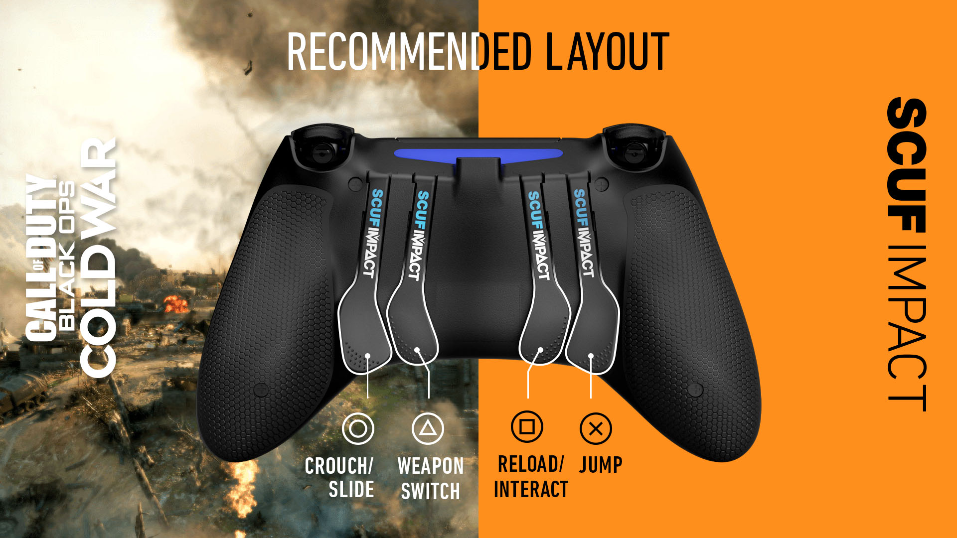 SCUF IMPACT COD Black Ops Cold War PS4 Controller Setup
