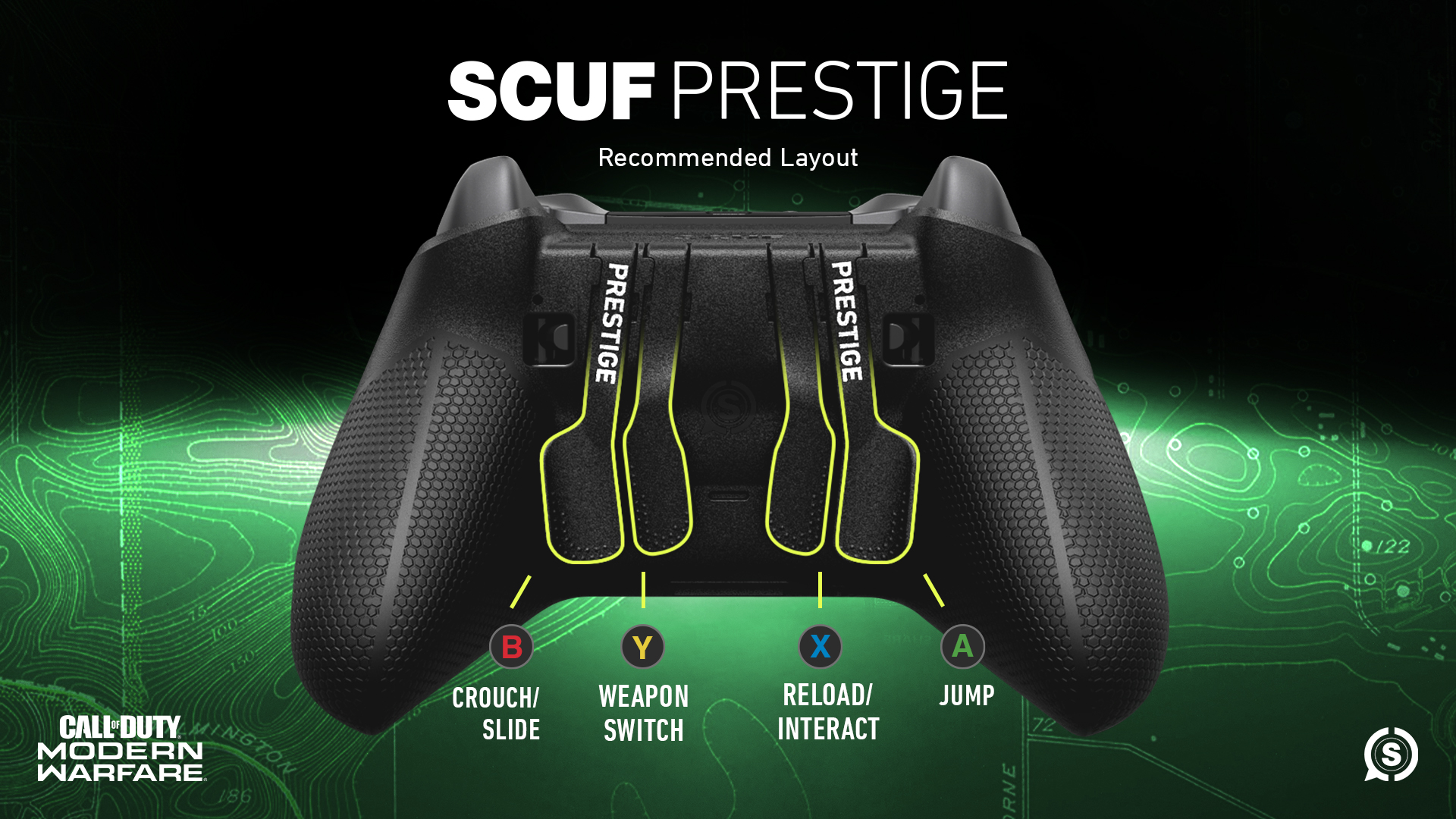 SCUF Prestige Call of Duty Modern Warfare Controller Configuration