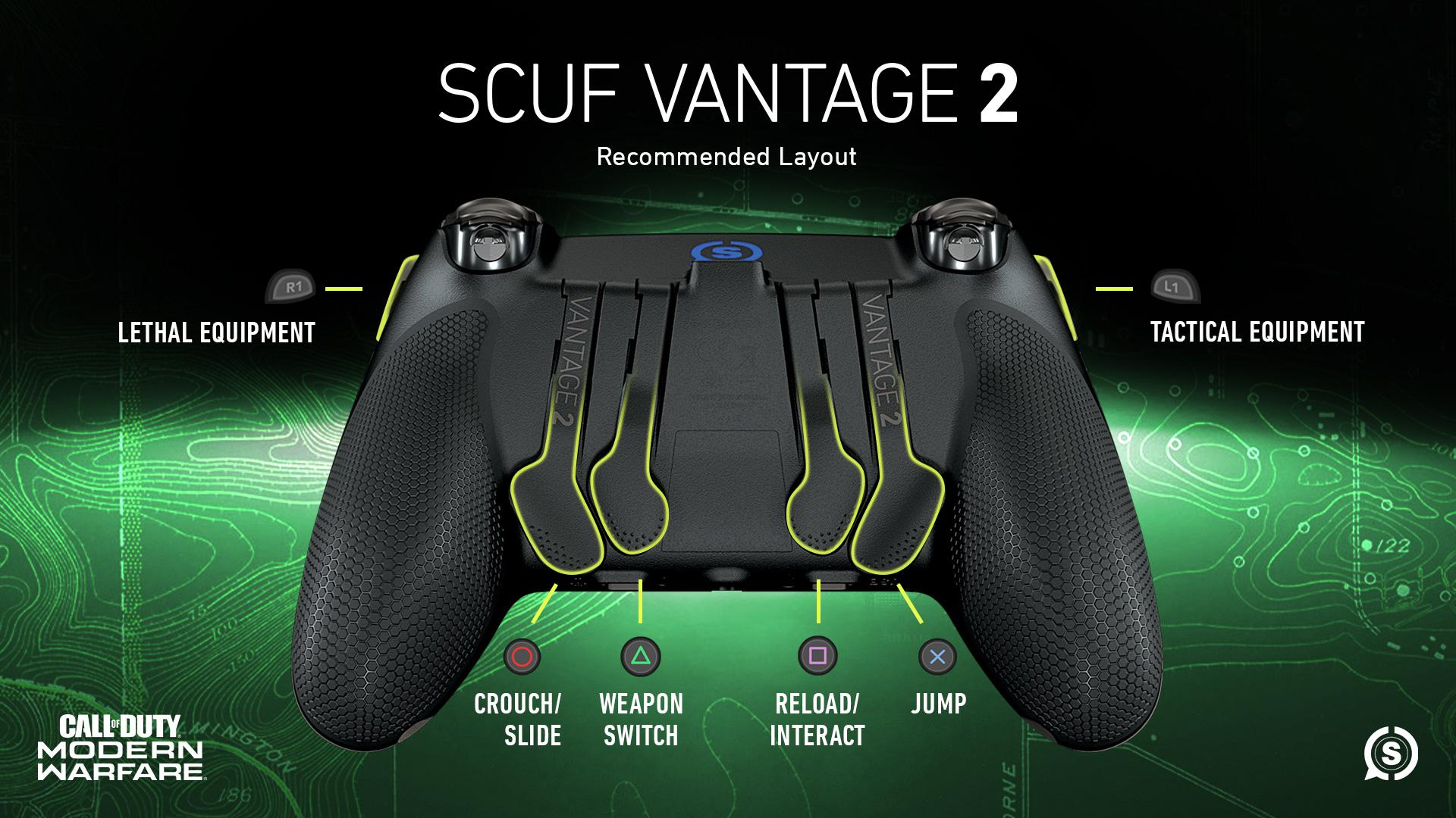 SCUF VANTAGE 2 OFFICIAL LICENSED CALL OF DUTY MODERN WARFARE CONTROLLER CONFIGURATION