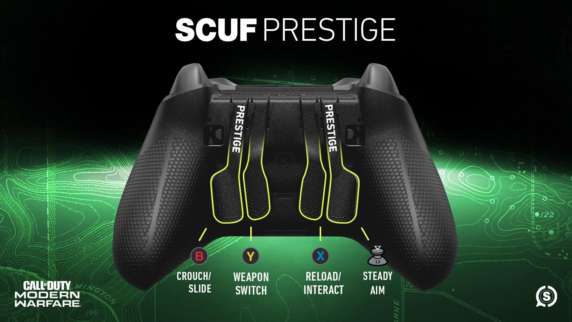SCUF Prestige COD MW Xbox One Controller Layout