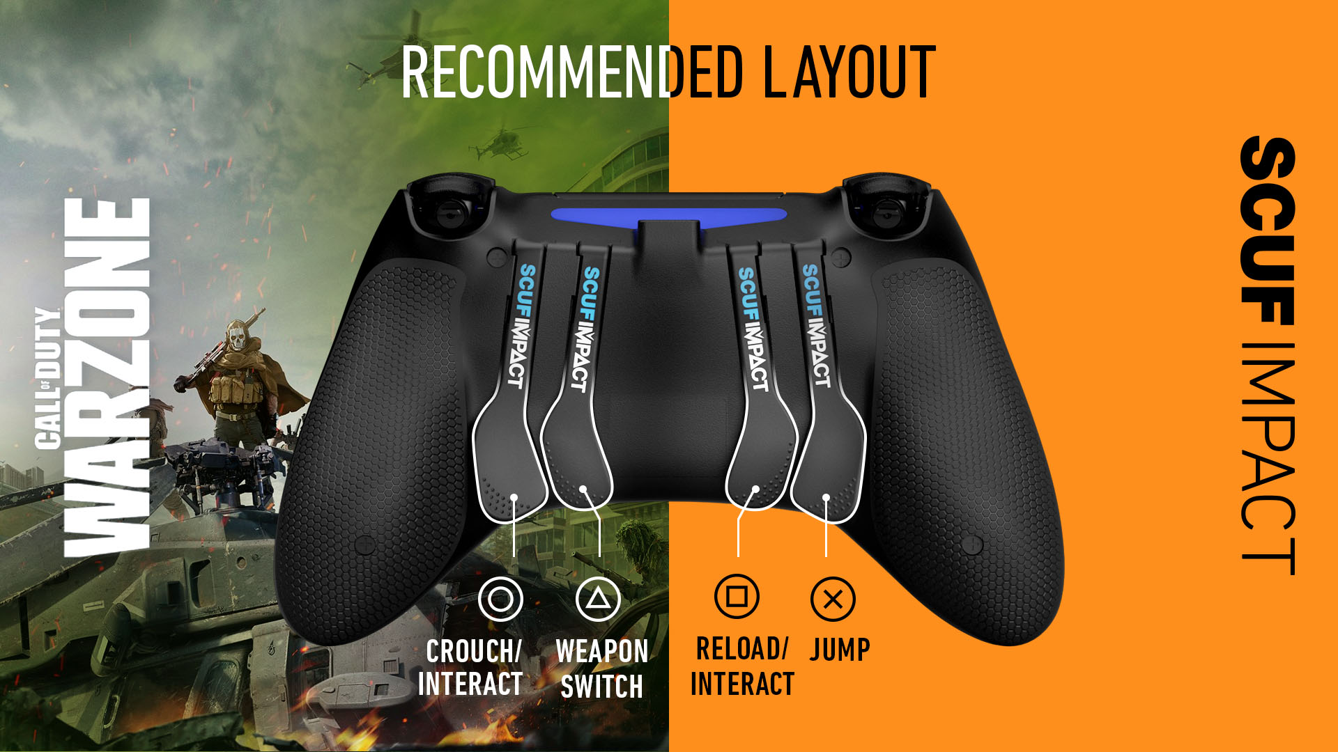 SCUF IMPACT COD Warzone PS4 Controller Setup