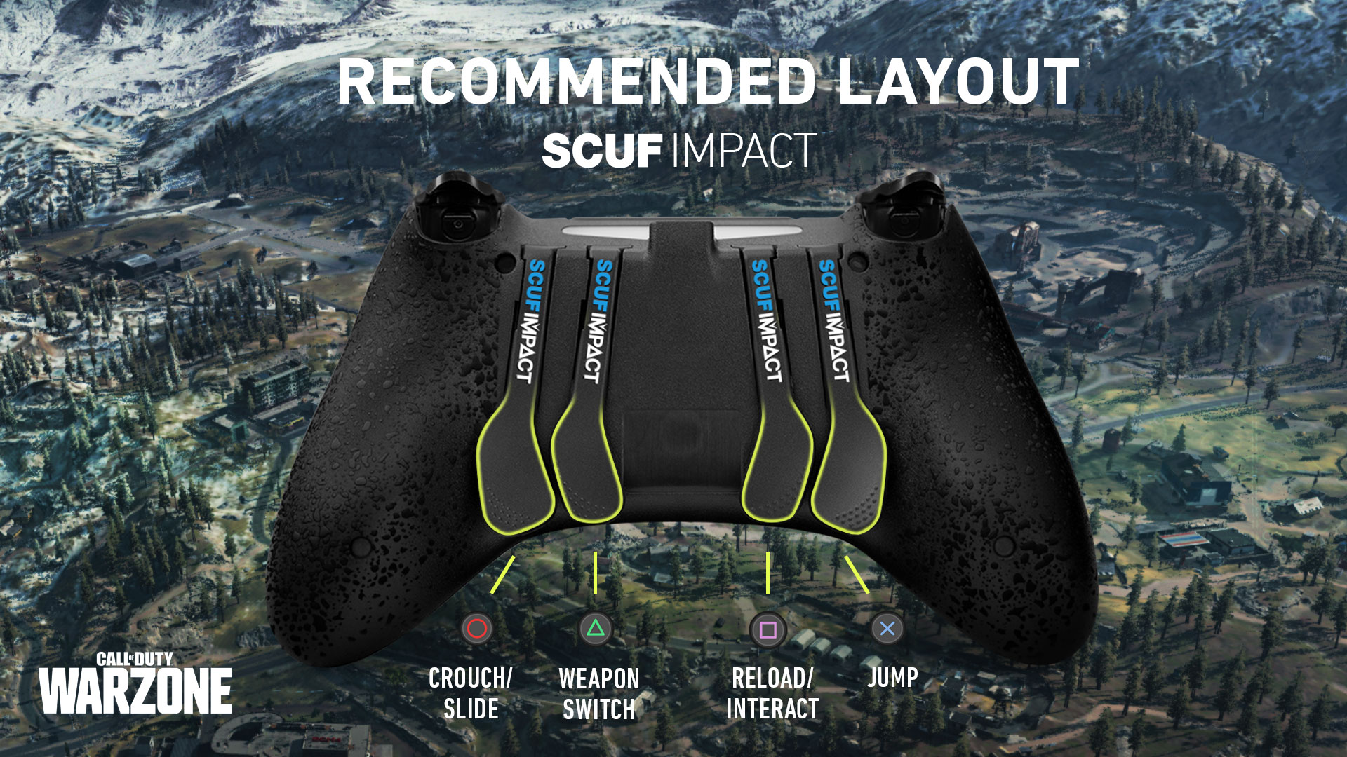 SCUF IMPACT COD Warzone PS4 Controller