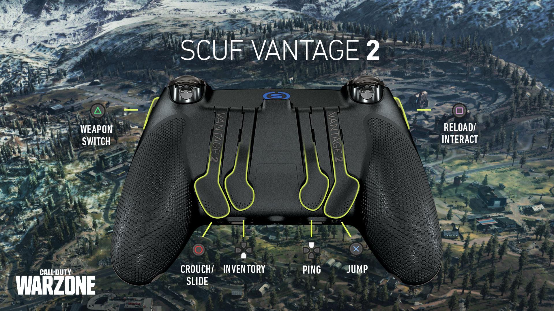 SCUF Vantage 2 COD Warzone PS4 Controller Setup
