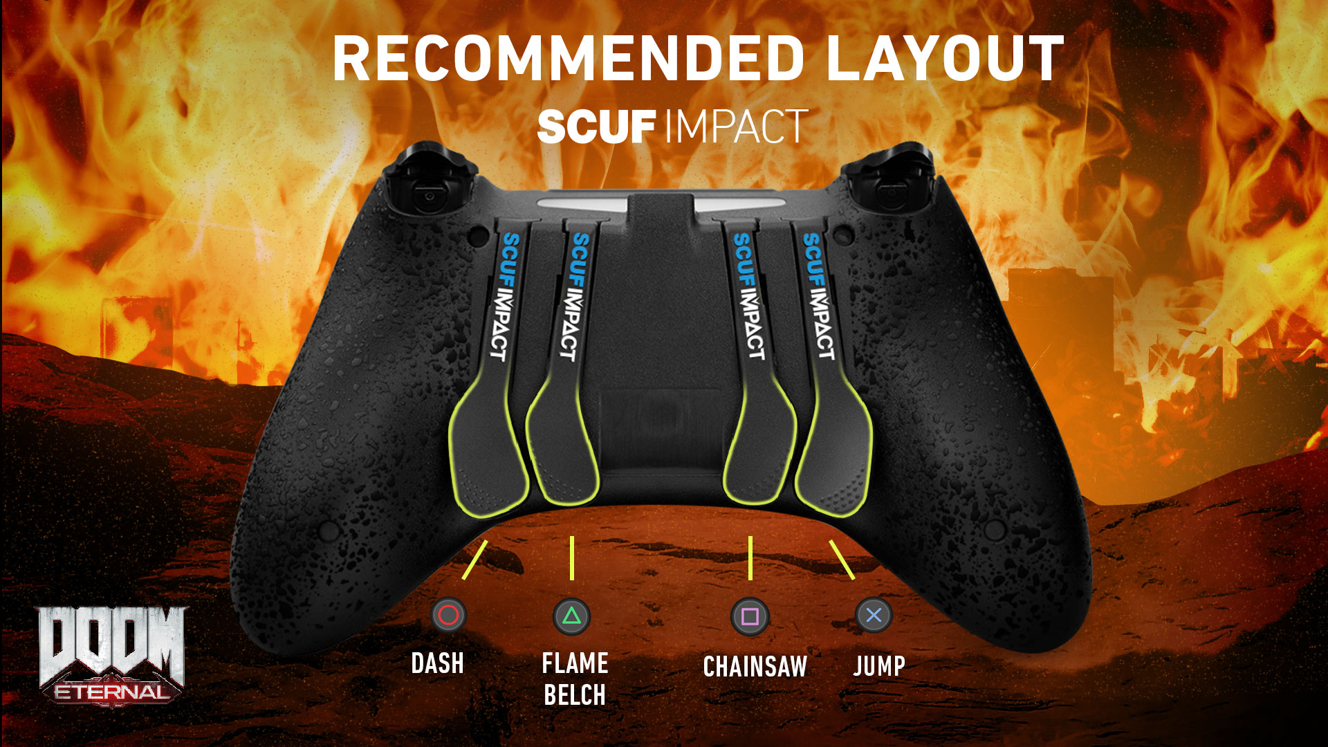 SCUF IMPACT Doom Eternal PS4 Controller Set up