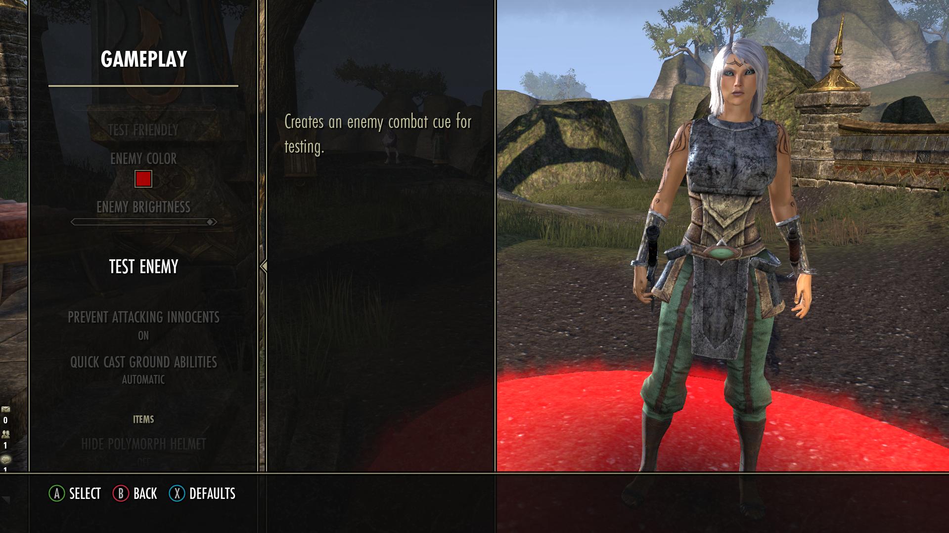 Elder Scrolls Online: Greymoor Gameplay Settings Menu