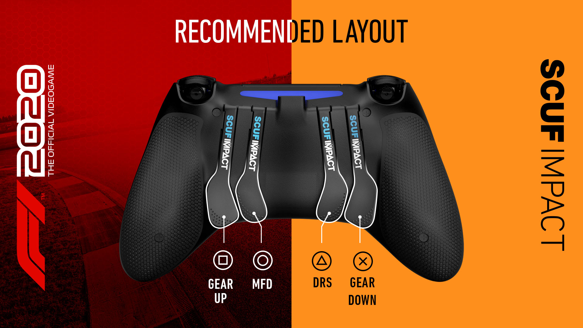 SCUF IMPACT F1 2020 PS4 Controller Setup