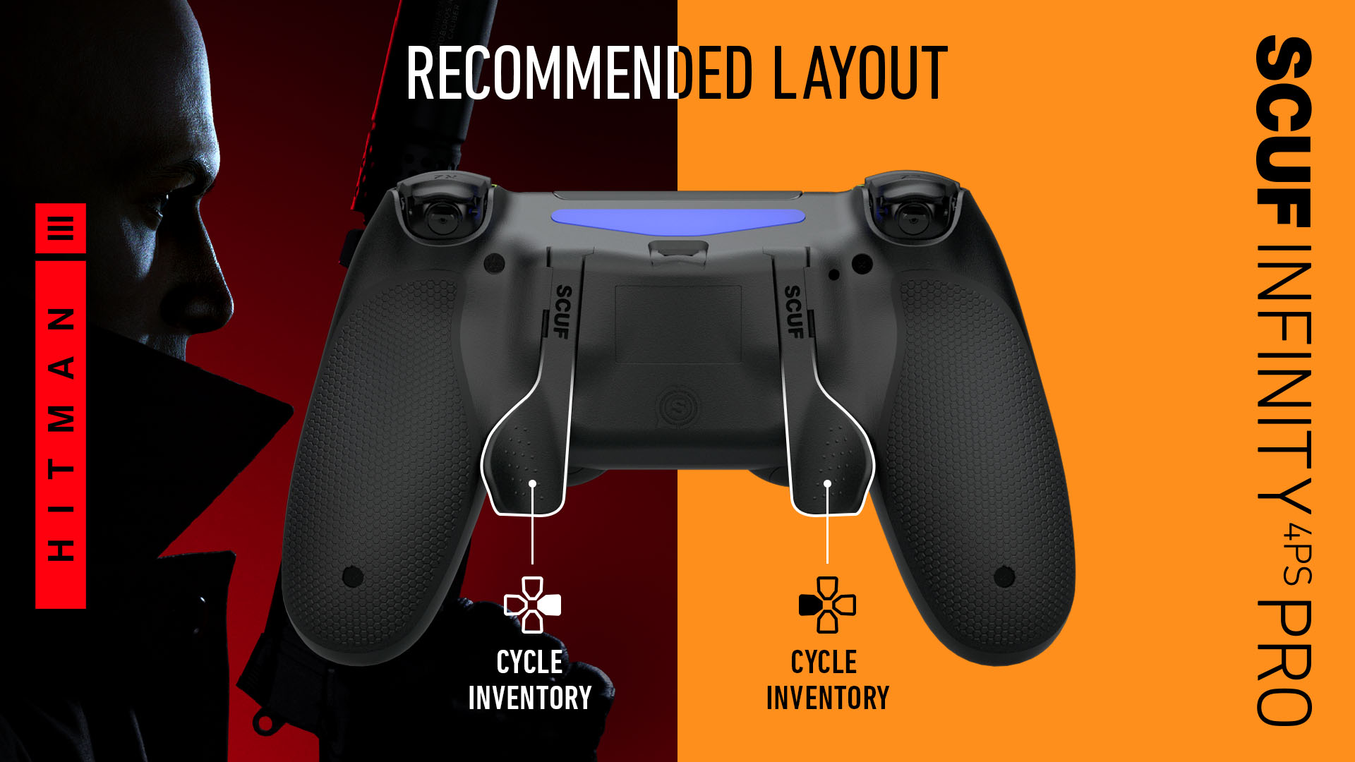 SCUF Infinity4PSPRO Hitman 3 PS4 Controller Set Up