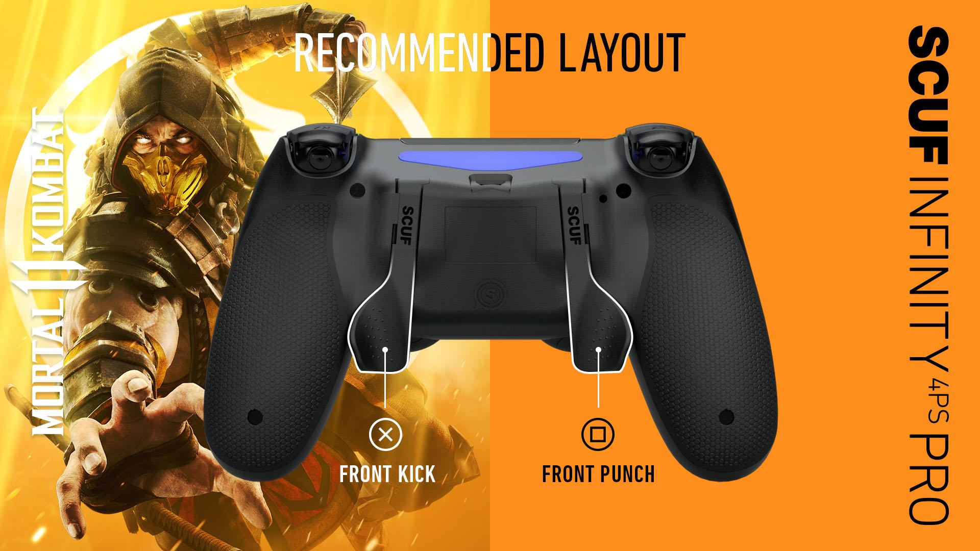 Mortal Kombat 11 Playstation Layout SCUF INFINITY4PSPRO