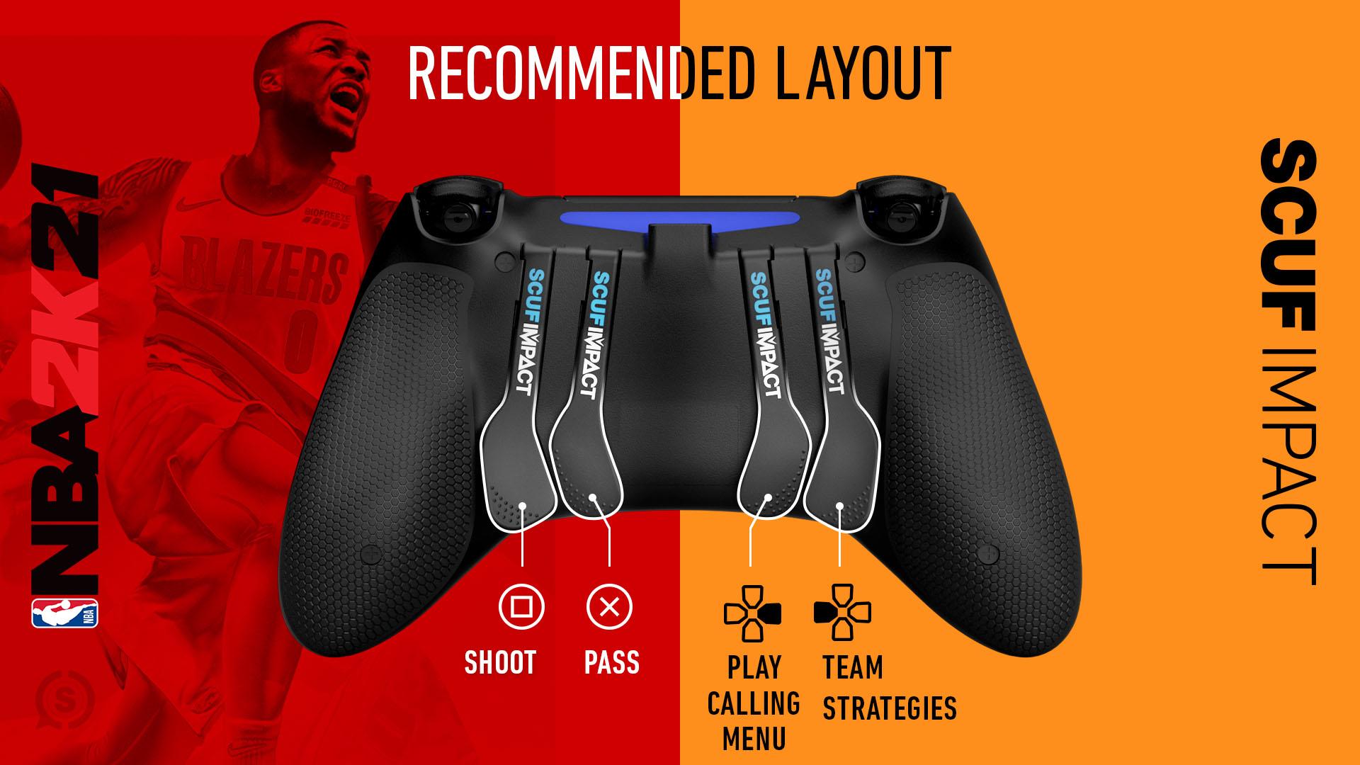 NBA2K21 PS4 Controller Setup SCUF IMPACT