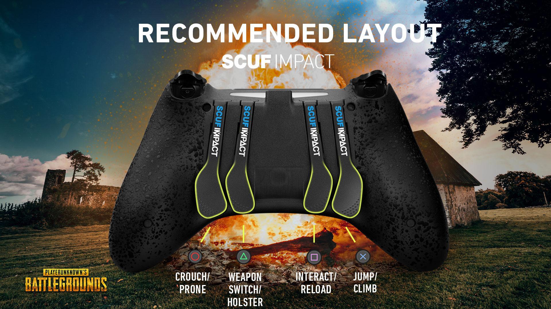 SCUF IMPACT PUBG PS4 PC CONTROLLER SETUP