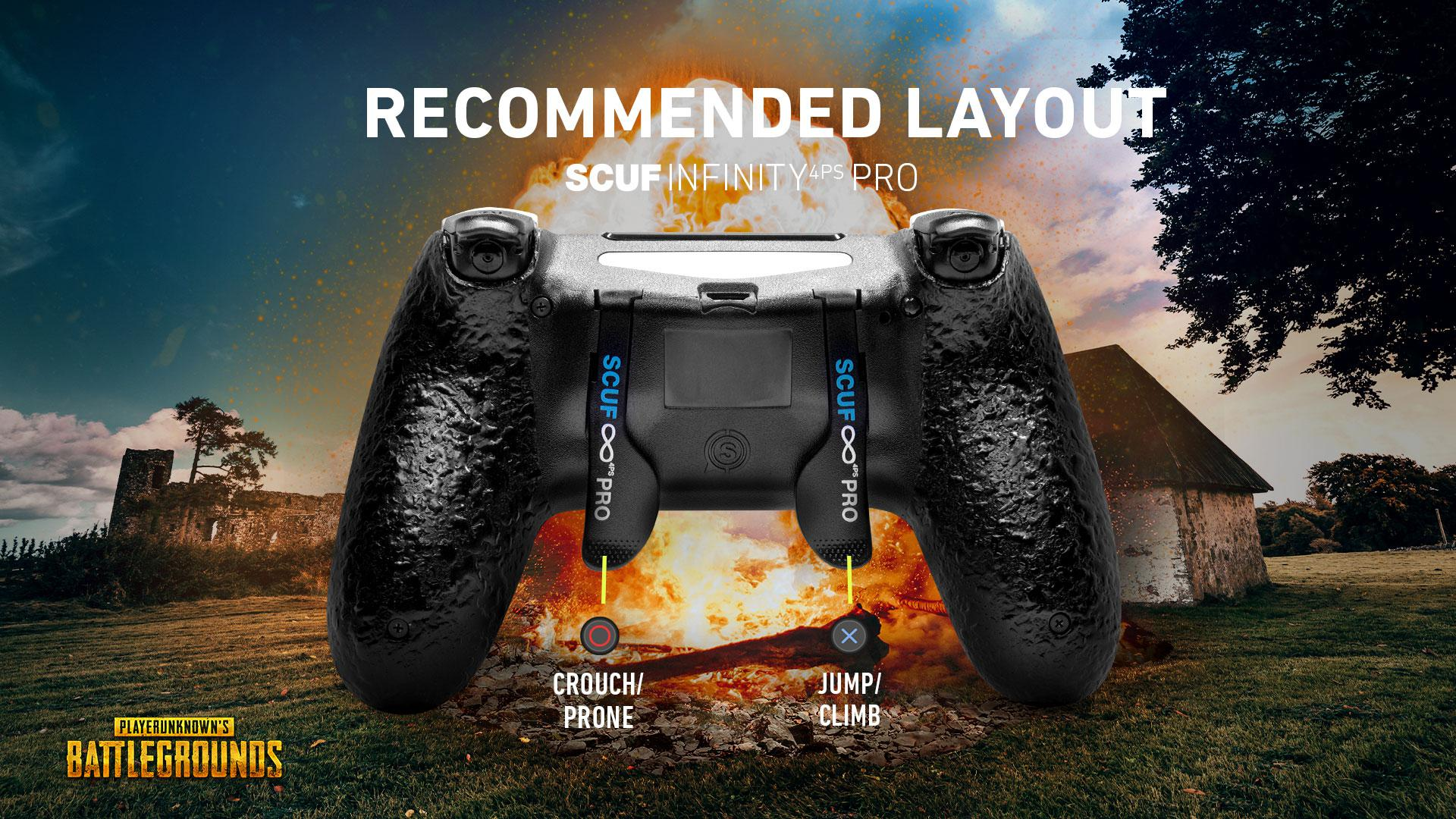 SCUF INFINITY4PSPRO PUBG PS4 PC CONTROLLER SET UP