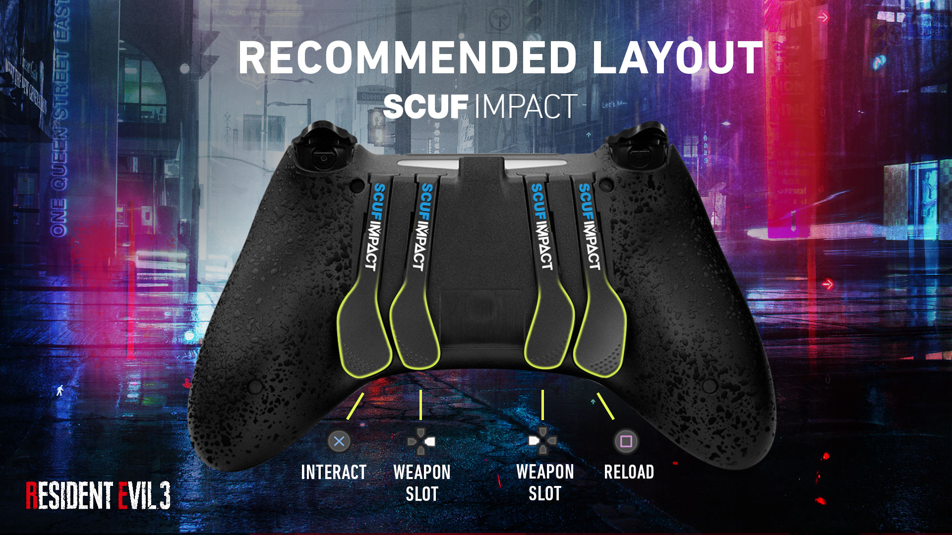 SCUF IMPACT Resident Evil 3 PS4 Controller Setup