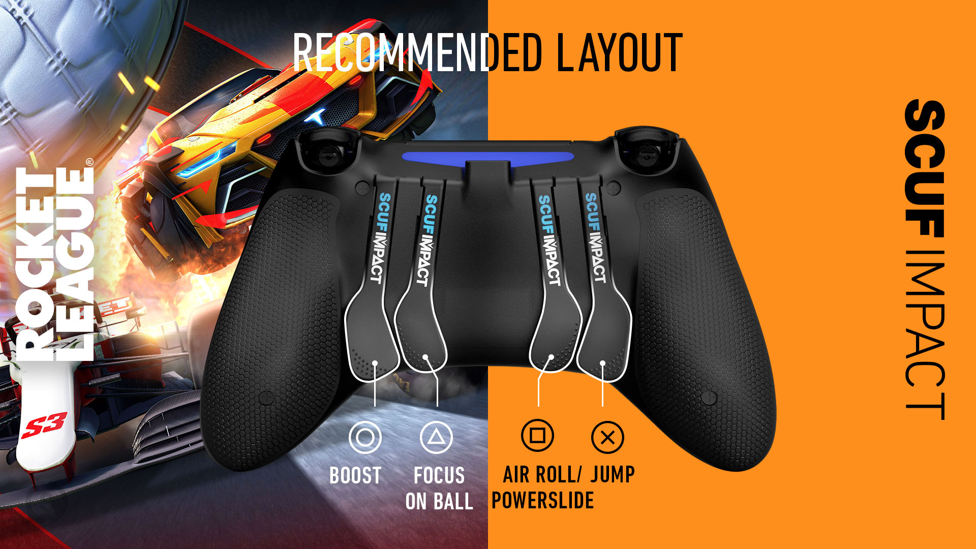 Rocket League PlayStation Controller Layout SCUF IMPACT