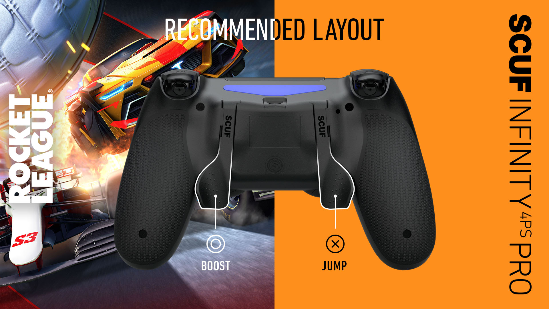 Rocket League PS4 Controller Set up SCUF Infinity4PSPRO