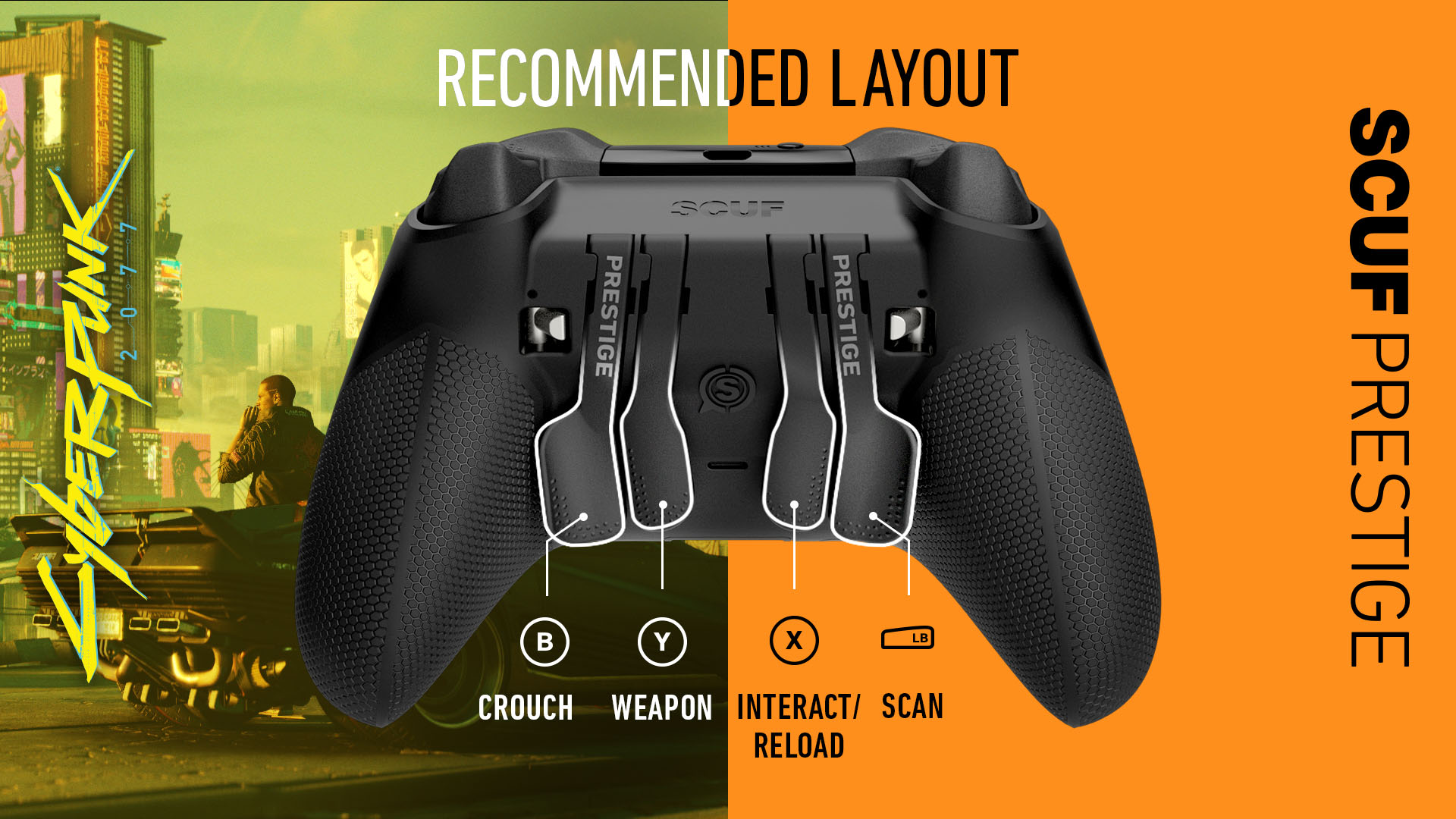 Cyberpunk 2077 Xbox Series X Xbox Series S Xbox One Controller Set Up SCUF Prestige