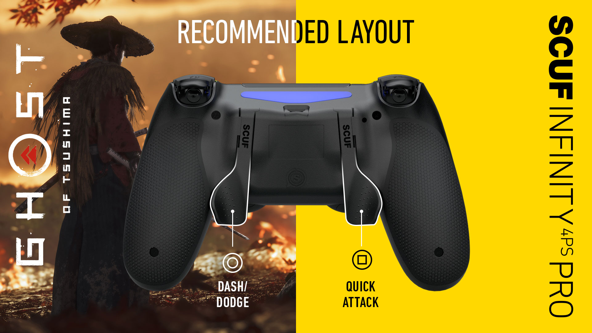 SCUF Infinty4PSPRO Ghost of Tsushima PS4 Controller Setup