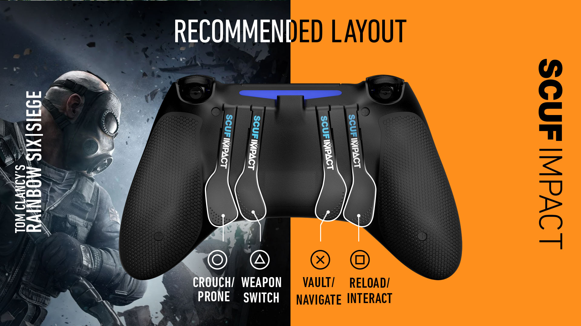 Rainbow 6 Siege PS4 Controller Setup SCUF IMPACT