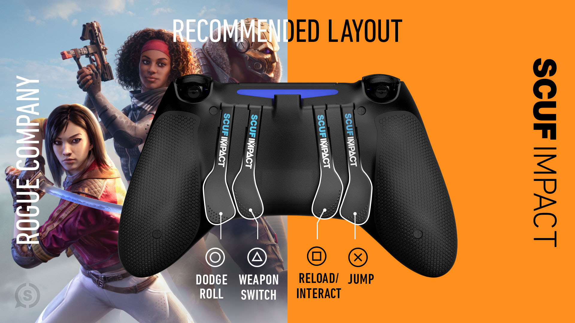 Rogue Company PS4 Controller Setup SCUF IMPACT