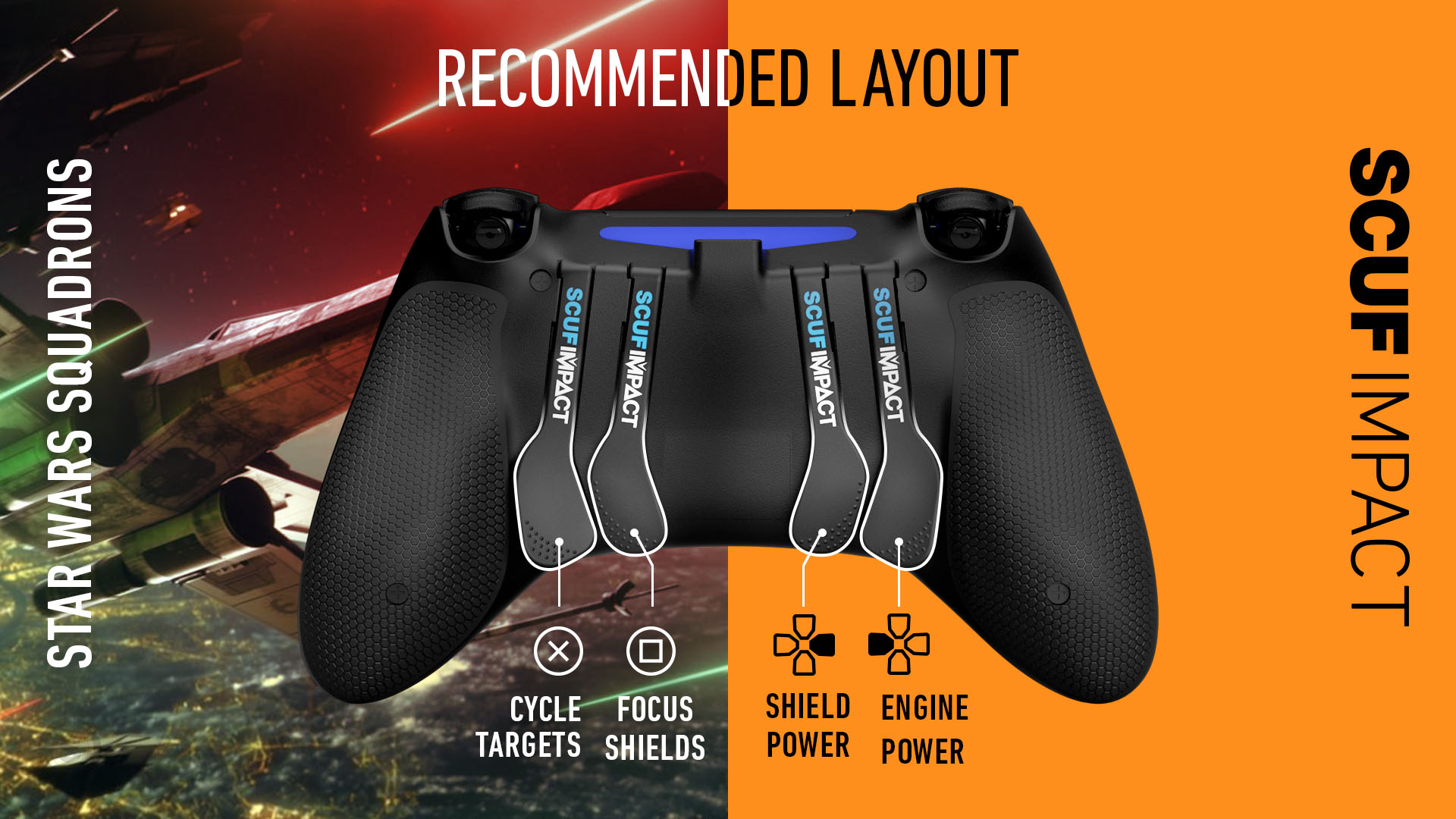 Star Wars Squadrons PS4 Controller SCUF IMPACT
