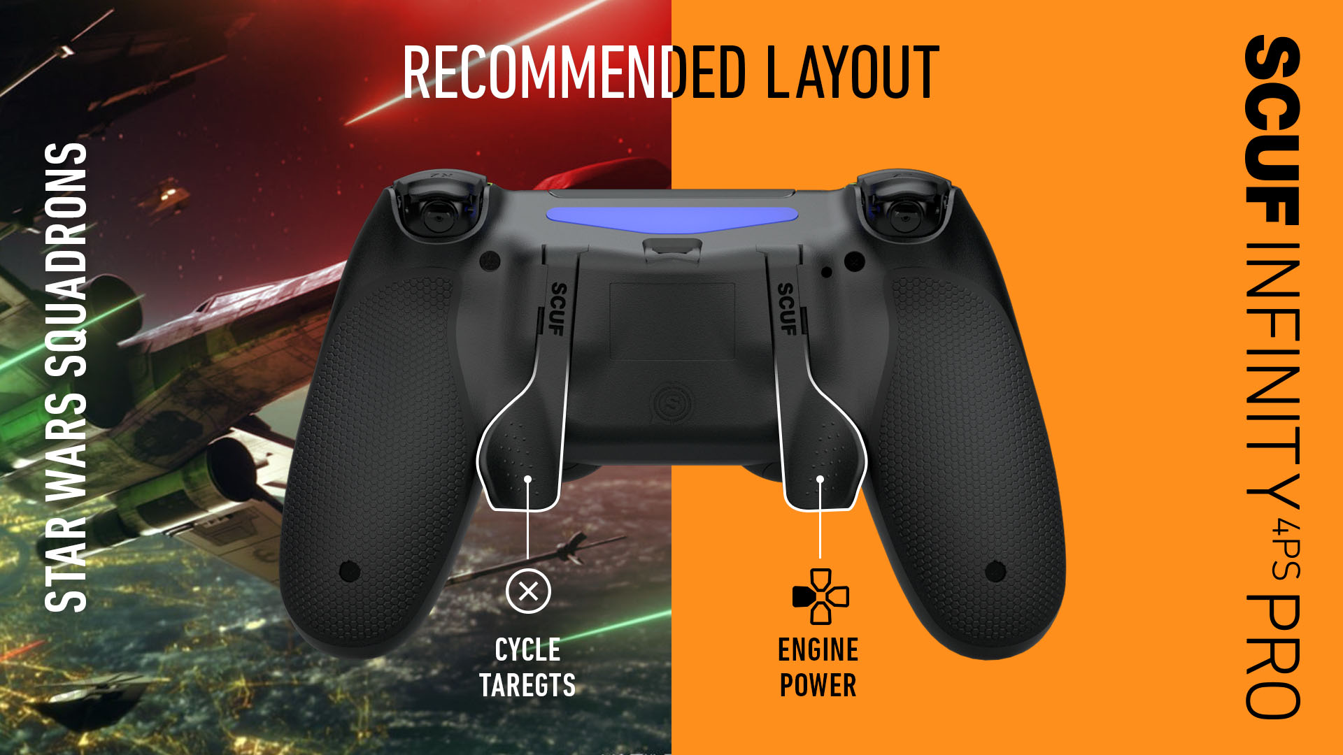 Star Wars Squadrons PS4 Controller SCUF INFINITY4PSPRO