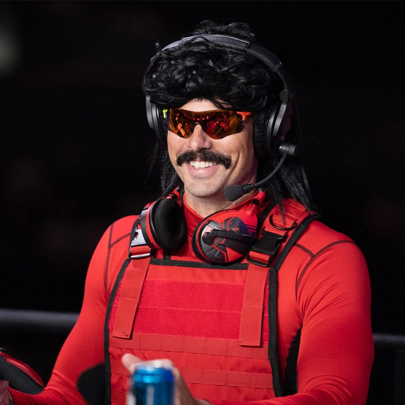 What can we say that hasn't already been said about this guy? Known to some as The Bullet Proof Mullet, but better known as Dr. Disrespect, to say he's a force to be reckoned with.