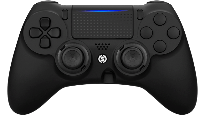 Top view of a black Impact controller