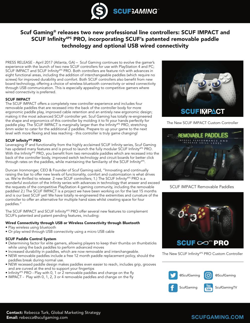 SCUF Impact Press Release