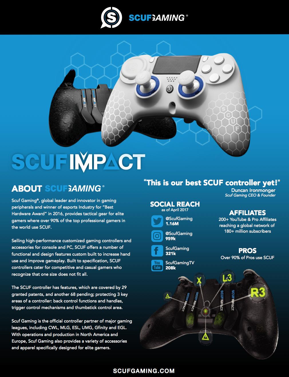 SCUF Impact brochure