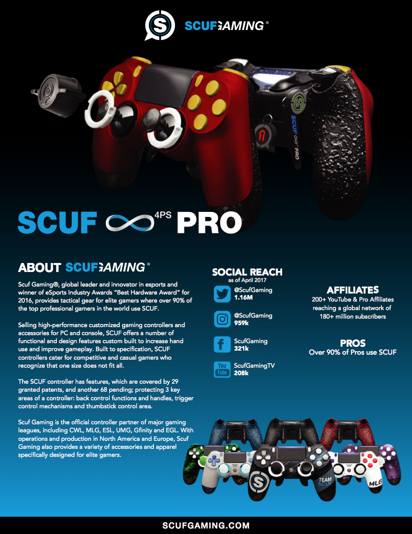 SCUF Infinity 4PS Pro Marketing brochure