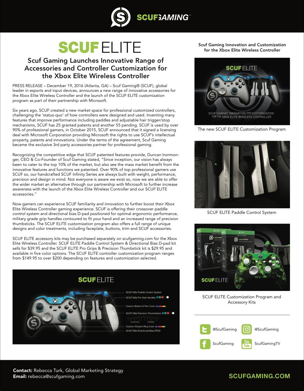 SCUF Elite press release