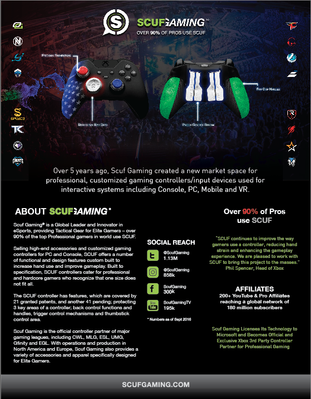 SCUF Elite marketing brochure