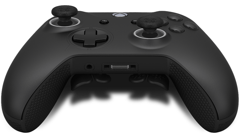 Back of the controller showing paddles (extra buttons).