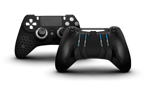 The completely re-engineered shape and ergonomics of the Impact are perfect for paddle play—featuring a traditional thumbstick layout with four paddles, interchangeable thumbsticks, and adjustable triggers.