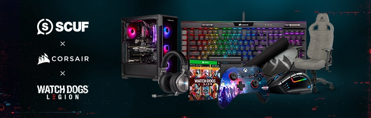 Win up $4,000 in Watch Dogs Legion, SCUF, and CORSAIR Prizes.