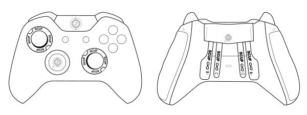 Drawing Lines Using Xbox One : Scuf infinity controller outline gaming