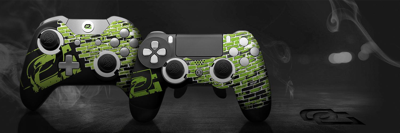 custom controller, esports, esports event, pro gamer, controller accessories, custom ps4 controller, custom xbox one controller, optic, optic greenwall