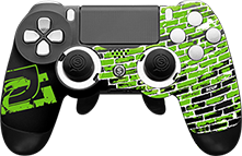 Optic GreenWall, call of duty, custom controller, esports, esports event, pro gamer, controller accessories, custom ps4 controller, custom xbox one controller