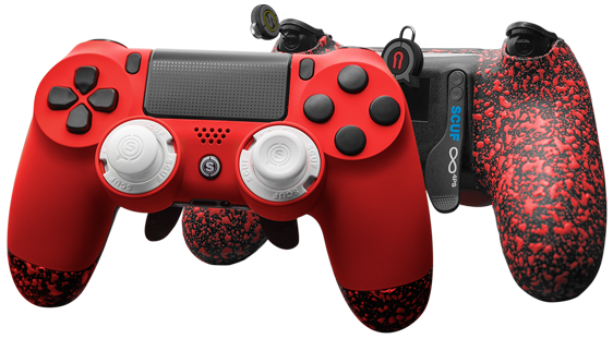 PlayStation 4 professional custom controller Infinity 4PS Red