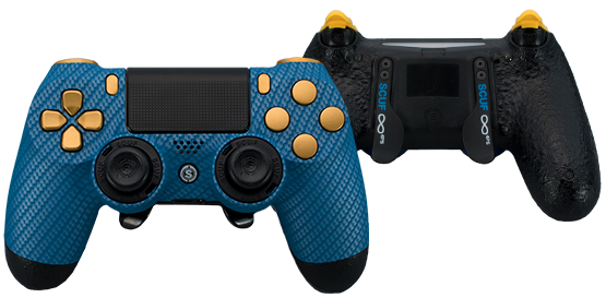 ps4_blue-carbon-fiber_yellow_front_back