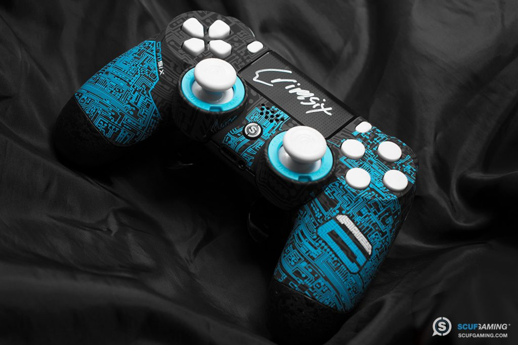 A signed Crimsix SCUF Infinity4PS controller for PlayStation 4