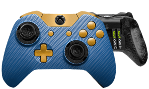 Xbox One professional controller Infinity1 carbon fiber blue