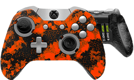 Xbox One professional controller Infinity1 digital camo orange