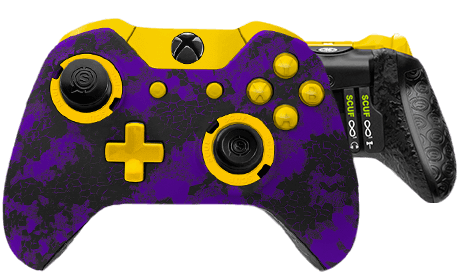 Xbox One professional controller Infinity1 digital camo purple