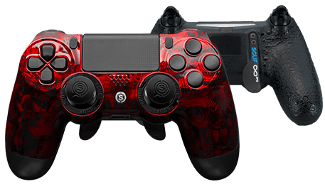 PlayStation 4 professional controller Infinity4PS designer red reaper