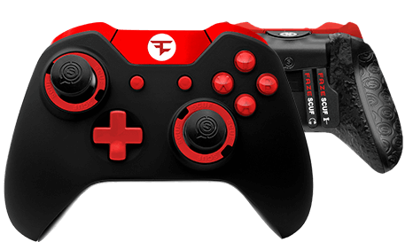Infinity1_Team_Faze Black_Gradient Red Trim_Front_Back