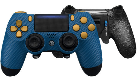 PlayStation 4 professional controller Infinity4PS PRO Carbon fiber Blue